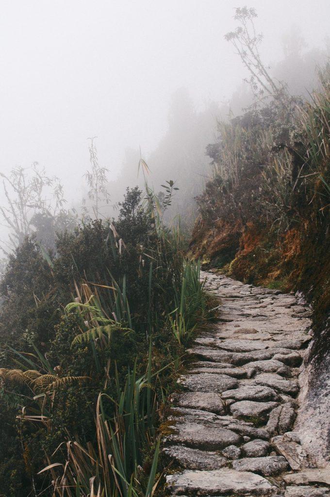 trail, path, mountains